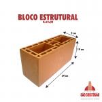 Bloco Estrututal 9x19x29