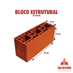 Bloco Estrututal 9x19x44